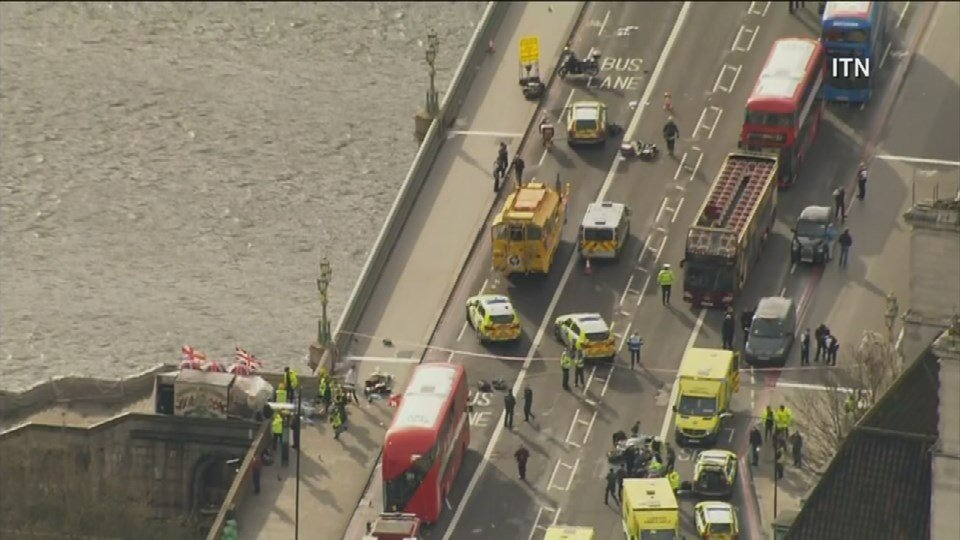 4 dead after vehicle, knife attack near British Parliament in London