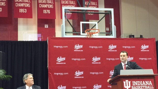 Indiana athletic director Fred Glass introduced Archie Miller as the new IU basketball coach Monday.