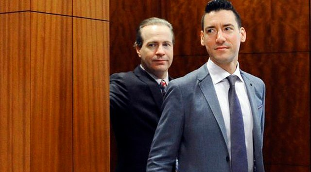 (AP Photo/Pat Sullivan, File). FILE - In this April 29, 2016 file photo, David Robert Daleiden, right, leaves a courtroom after a hearing in Houston.