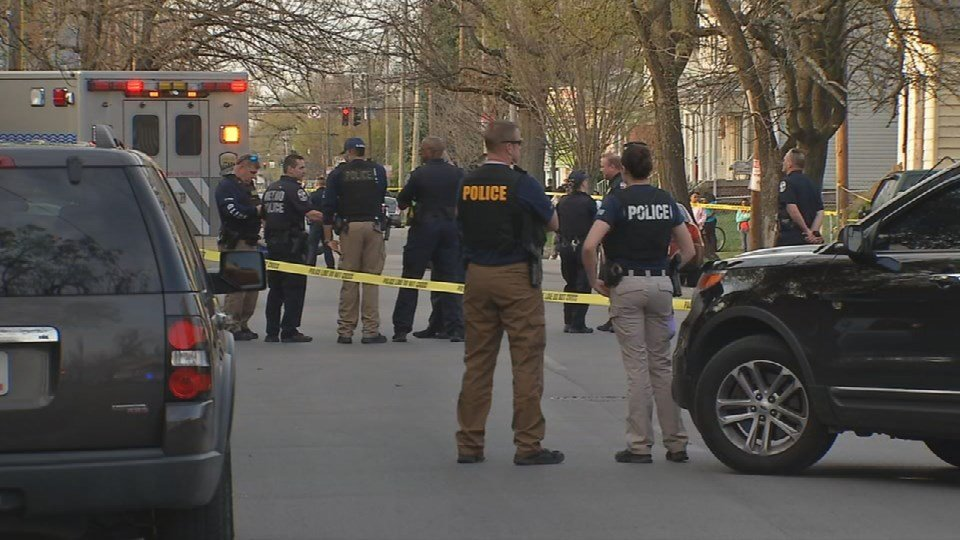 The first shooting happened at 6:45 at 21st and Madison Streets