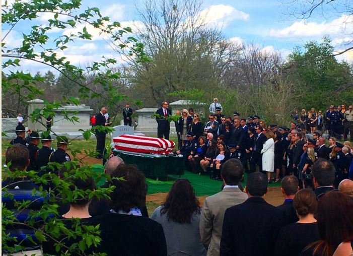 Graveside service for fallen LMPD officer Nick Rodman (Photo by Toni Konz, WDRB News)