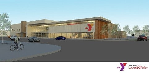 Rendering of planned YMCA branch at 1700 W Broadway