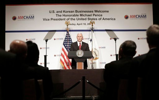 Pence to North Korea: 'The sword stands ready'