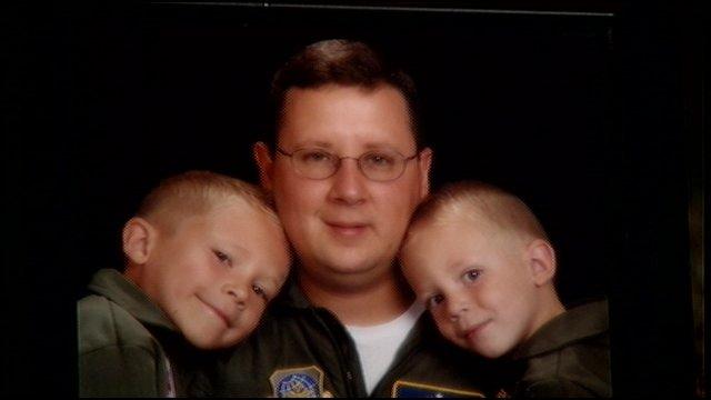 Master Sgt. James Tongate and sons Noah & Caleb