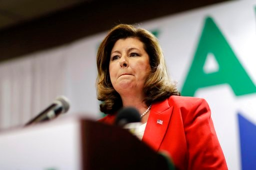 (AP Photo/David Goldman). Republican candidate for Georgia's Sixth Congressional seat Karen Handel speaks at an election night watch party in Roswell, Ga., Tuesday, April 18, 2017.