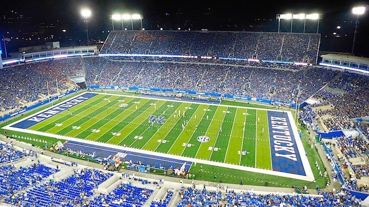 Commonwealth Stadium, now Kroger Field, after its 2015 renovation. (WDRB photo by Eric Crawford)