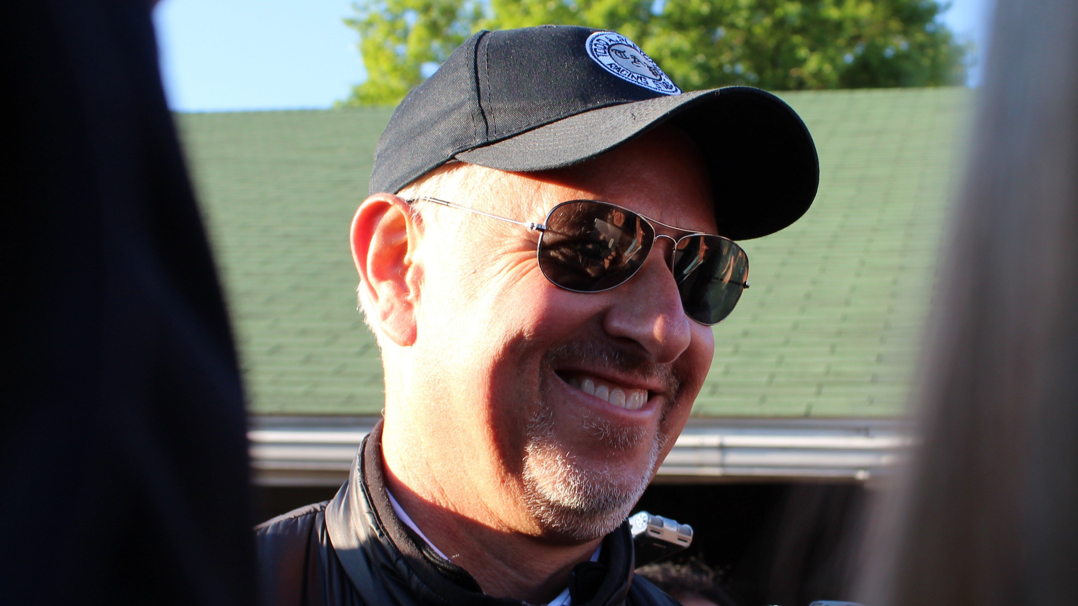 Trainer Todd Pletcher flashes a smile the morning after winning his second Kentucky Derby. (WDRB photo by Eric Crawford)