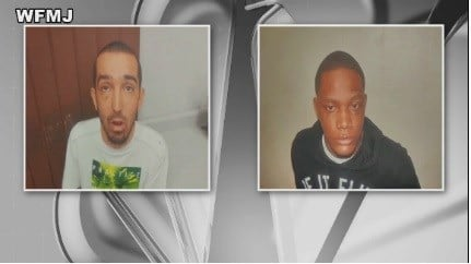 Police arrested Justin Buckle and Cortez Collins.