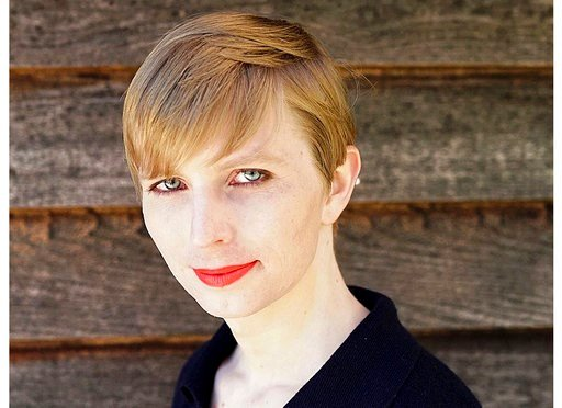 Tim Travers Hawkins/Courtesy of Chelsea Manning via AP). This undated photo provided by Army Pvt. Chelsea Manning shows a portrait of her that she posted on her Instagram account on Thursday, May 18, 2017.