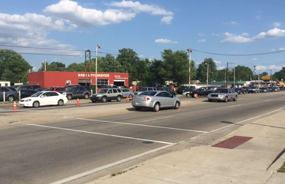 Accident scene from Popular Level Road and Rangeland Road from Thursday evening. (WDRB file photo)