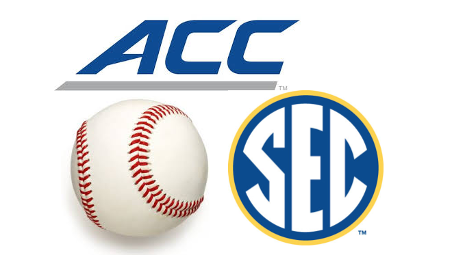 Better baseball conference: SEC or ACC? (Graphic by Eric Crawford)