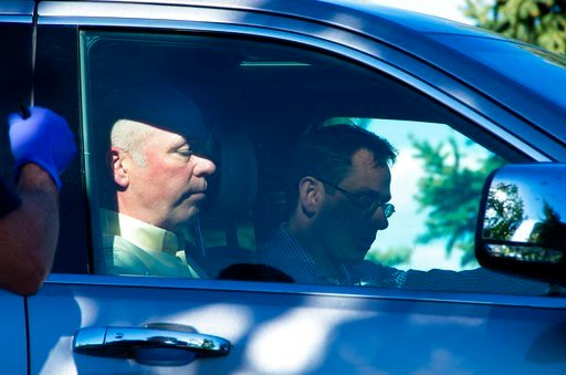 (Freddy Monares/Bozeman Daily Chronicle via AP). Republican candidate for Montana's only U.S. House seat, Greg Gianforte, sits in a vehicle near a Discovery Drive building Wednesday, May 24, 2017, in Bozeman, Mont.