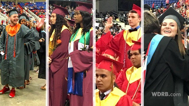 These graduates are among 947 seniors from Seneca, Atherton and Fern Creek high schools who graduated this week. (Photos by Toni Konz, WDRB News)