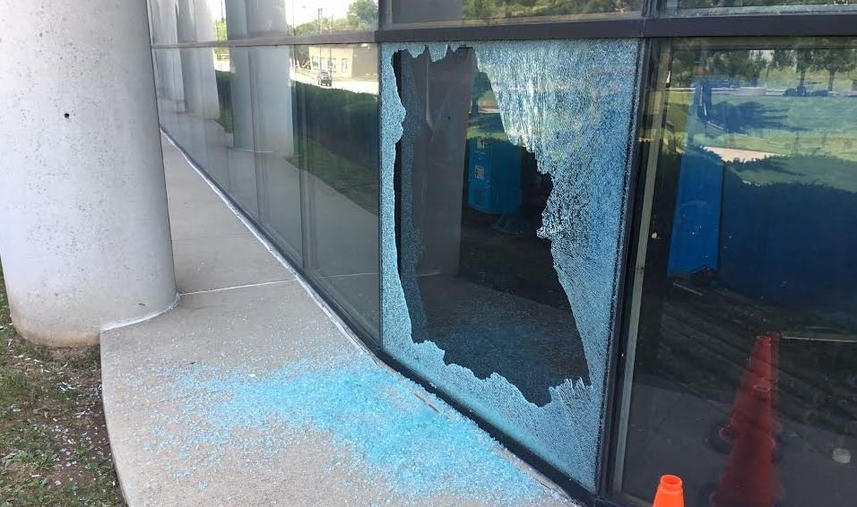 Several windows shattered at Lexington Herald-Leader building