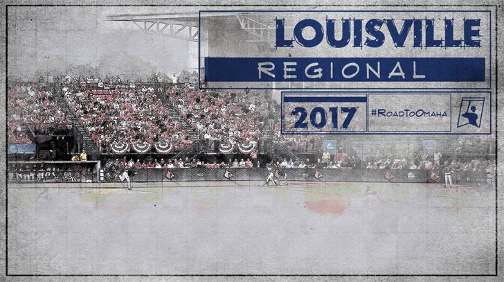 Bracket for the Louisville Regional (NCAA graphic)