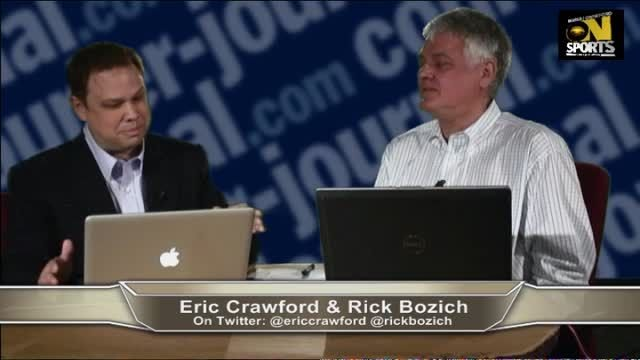 Bozich and Crawford during one of their final newspaper webcasts.