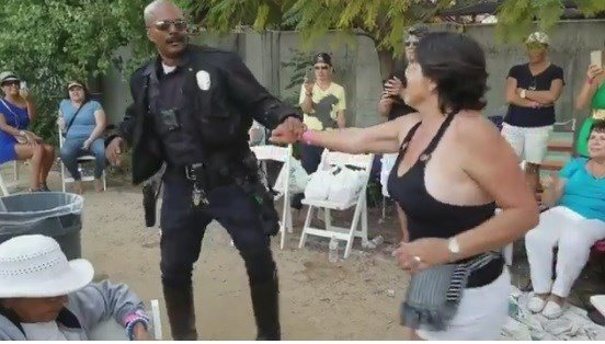LAPD officer shows off serious salsa skills