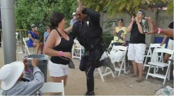 LAPD officer shows off serious salsa skills at Cuban music festival