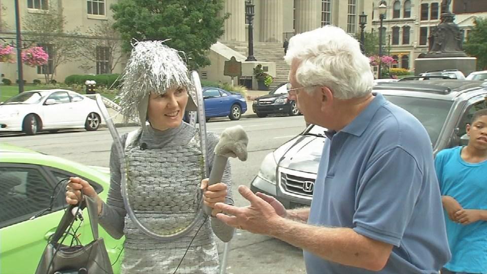 Dominique Paul walks downtown Louisville