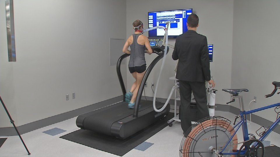Athlete at the new Sports Medicine Research Institute at the University of Kentucky.