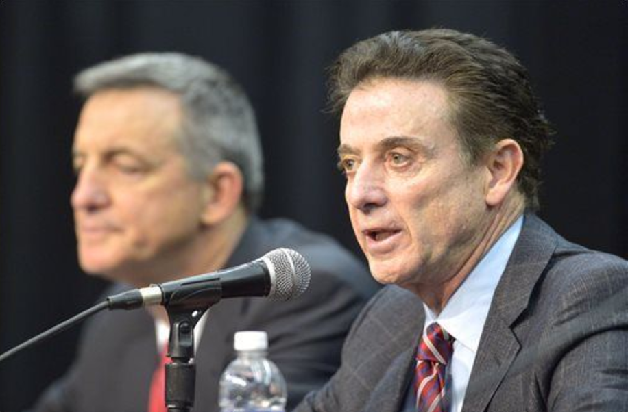The NCAA announced its sanctions against the Louisville basketball program Thursday.