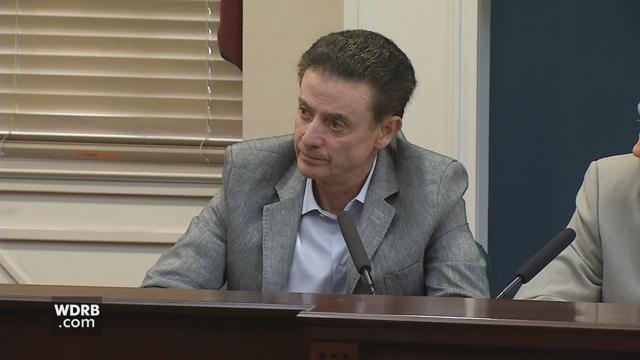Former Louisville men's basketball coach Rick Pitino