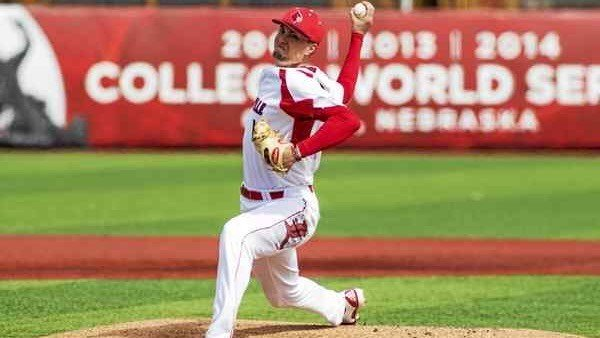 Junior Kade McClure will take the mound for Louisville in its second College World Series game. (U of L athletics photo)