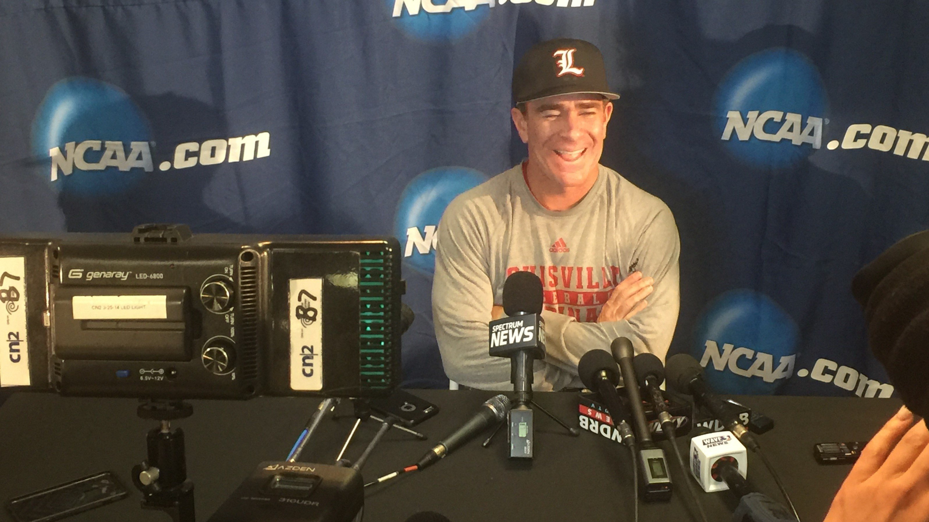 Dan McDonnell will try to lead Louisville to its second win in the College World Series against Florida Tuesday night.