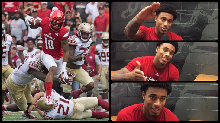 Jaire Alexander. Photo at left by Mike Dezarn. Others by Eric Crawford, WDRB.