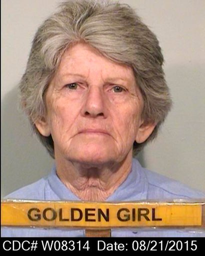 (California Department of Corrections and Rehabilitation via AP, File). FILE - This Aug. 21, 2015 file photo provided by the California Department of Corrections and Rehabilitation shows Patricia Krenwinkel.