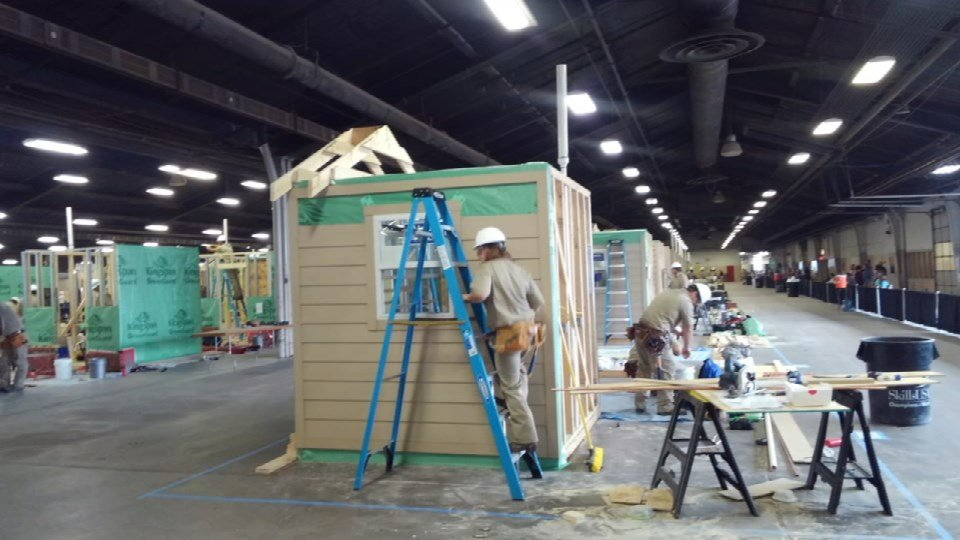 Teammates from Missouri were tasked with building an eight-foot-by-eight foot house.