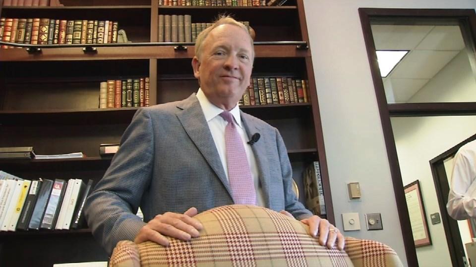 Greg Postel, interim president of the University of Louisville, on June 24, 2017 (Frank Stamper, WDRB)
