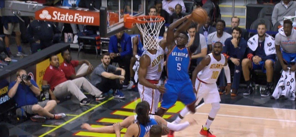 Former Indiana guard Victor Oladipo won the NBA Dunk of the Year for this move against Dwight Howard.