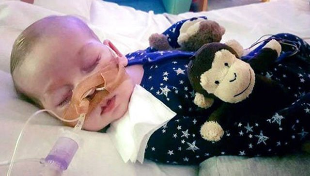 Devastating: Charlie Gard, the baby at the center of a fierce legal battle for alternative treatment options, is likely to sadly die today