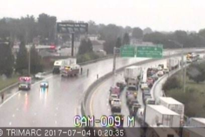 Crash I-65 North at MM 131.5 Near Fairgrounds