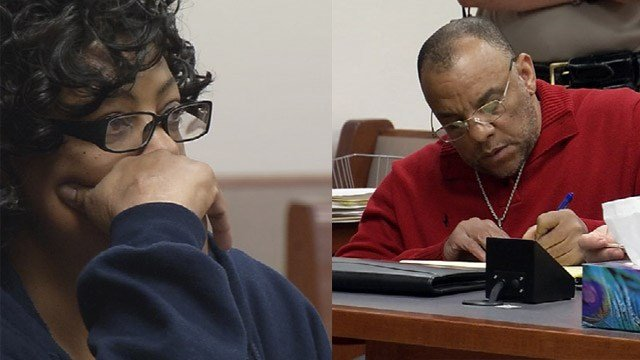 Cecilia Sanders and Kerry Porter in court earlier this year