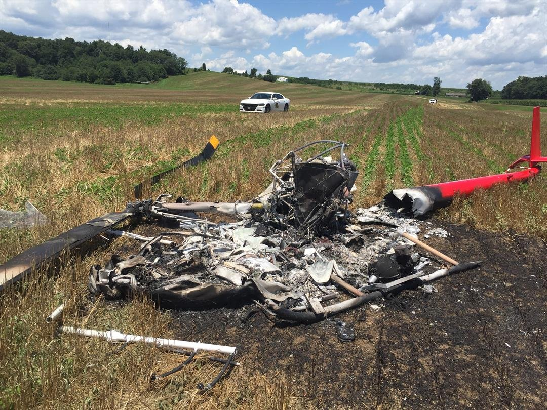 Charlestown Man Injured After Crashing Helicopter Into Bean Field