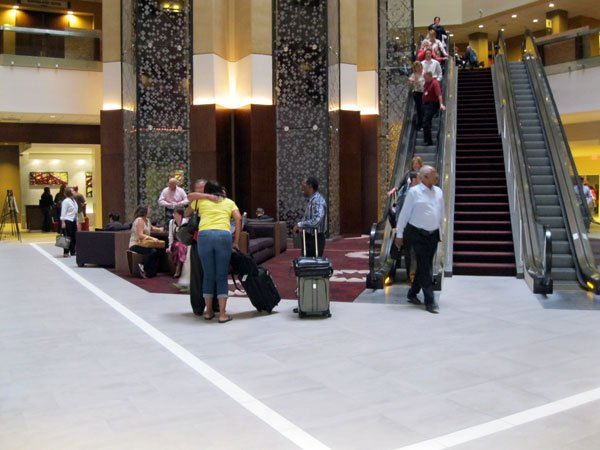 Hyatt Regency Louisville lobby shown in 2012