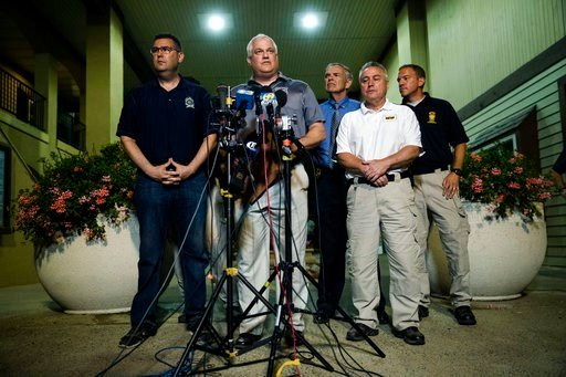 (AP Photo/Matt Rourke). Matthew Weintraub, District Attorney for Bucks County, Pa., speaks with members of the media in New Hope, Pa., Thursday, July 13, 2017.