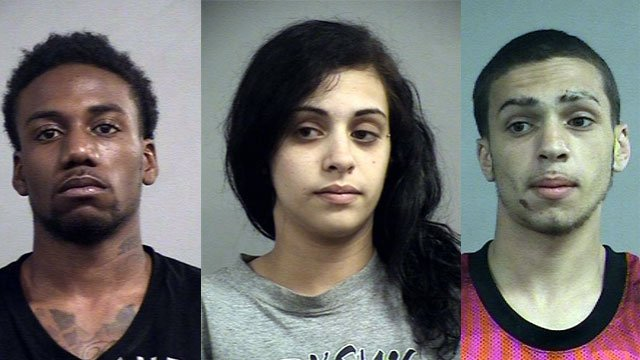 Murder defendants Tyrone Thomas, Fatima Abu-Diab and her brother, Fahed Abu-Diab