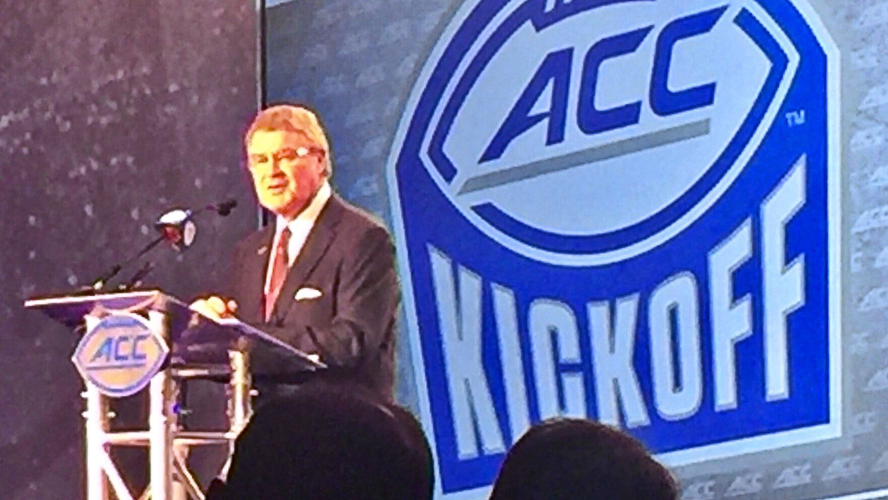 ACC commissioner John Swofford kicks off ACC Football Media Days. (WDRB photo by Eric Crawford)