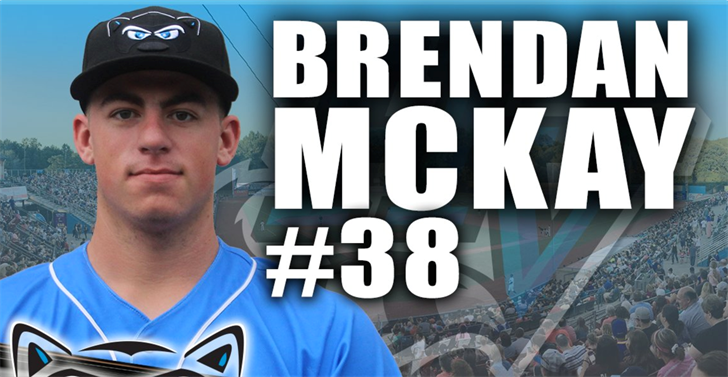 Former U of L star Brendan McKay is schedule to make his pro debut this weekend. (Hudson Valley Renegades photo.)