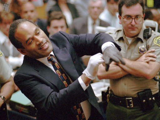 """O.J. Simpson famed """"glove"""" testimony at murder trial"""