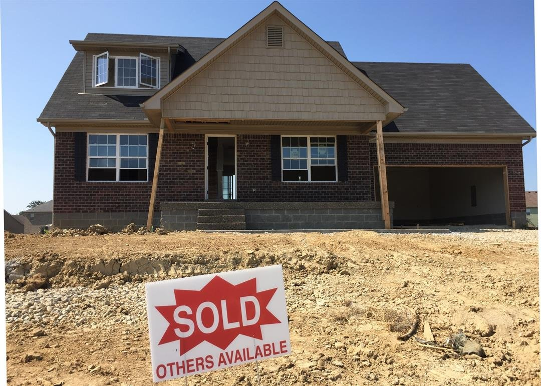 A home under construction in the Mallard Lake subdivision in Shepherdsville