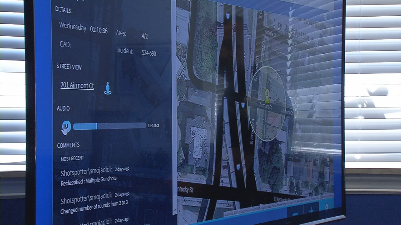 ShotSpotter technology detects gunfire within seconds.