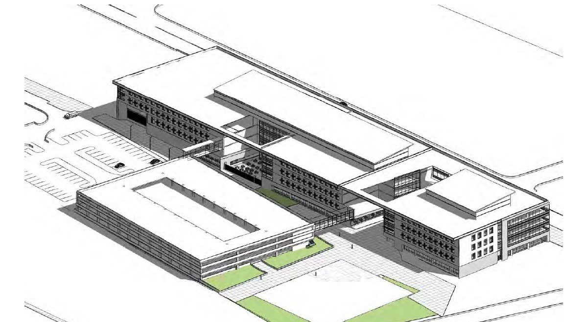 Conceptual drawing of office building (Passport Health Plan)