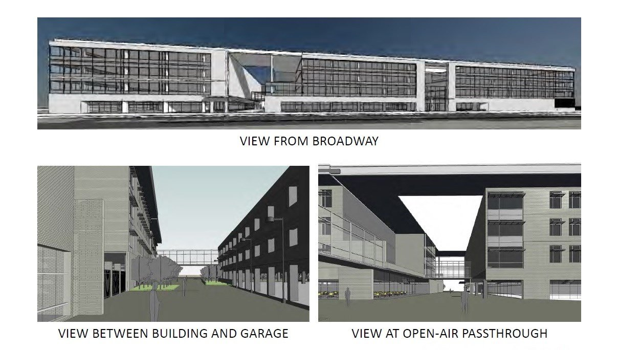 Conceptual renderings of office building (Passport Health Plan)