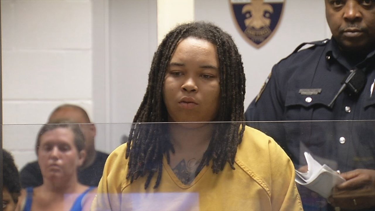 Mykeya Pruitt appears before judge.