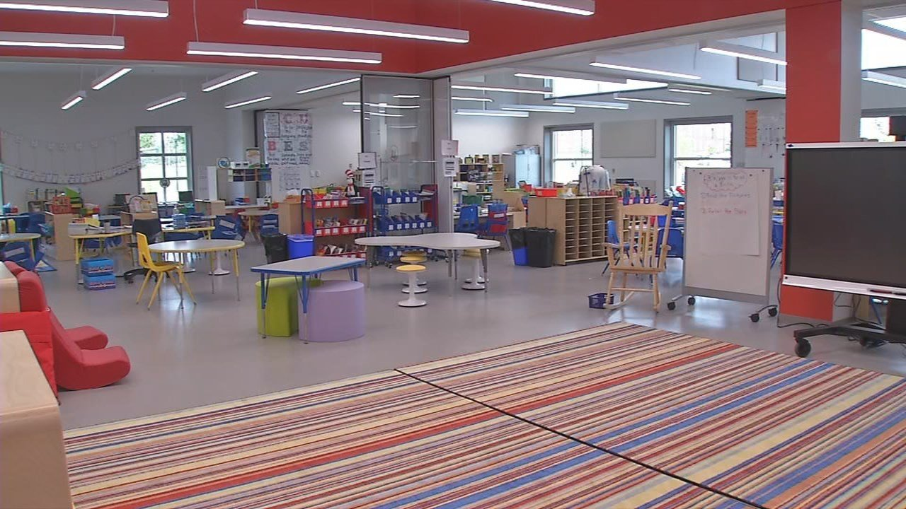 Instead of classrooms, the school has spacious learning studios.