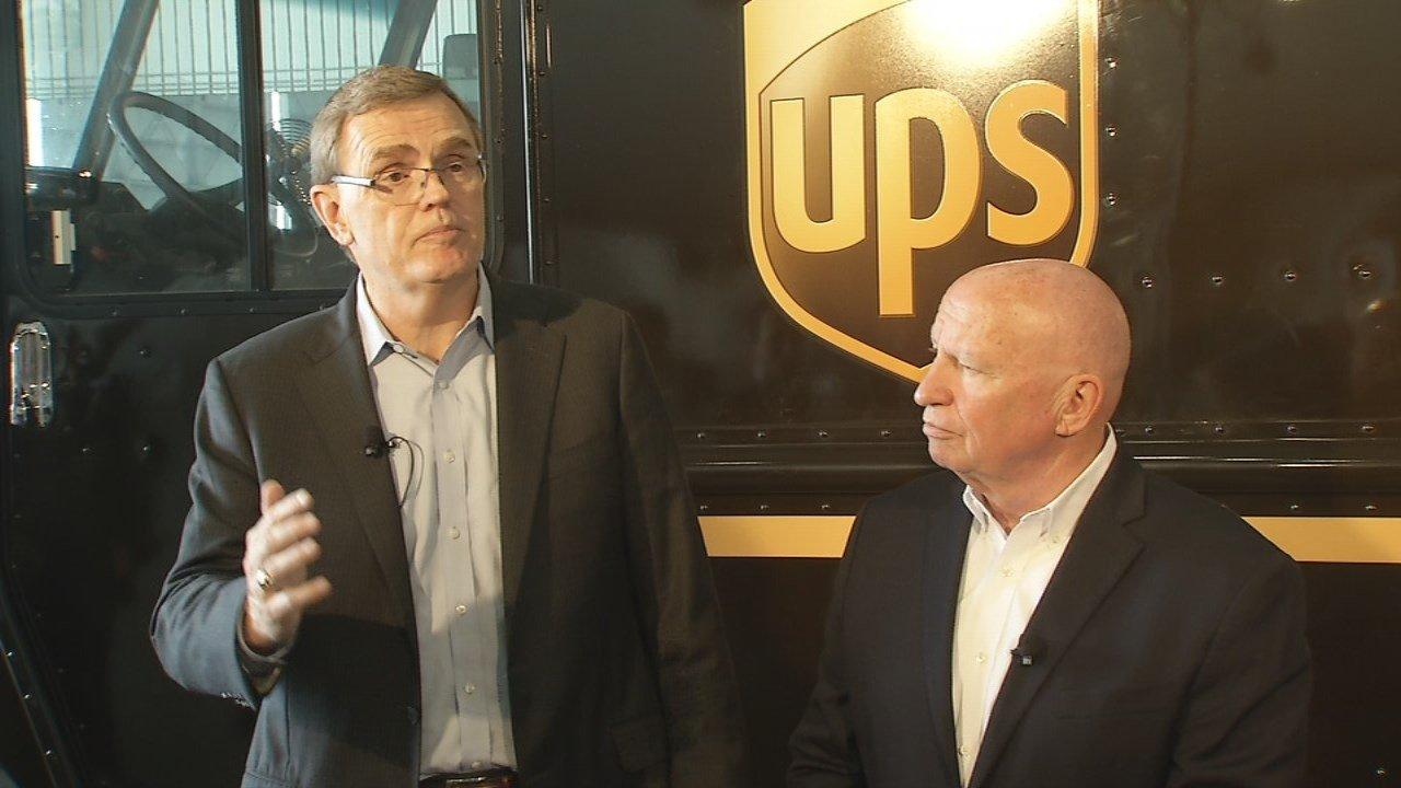 UPS CEO David Abney and House Ways and Means Chairman Kevin Brady